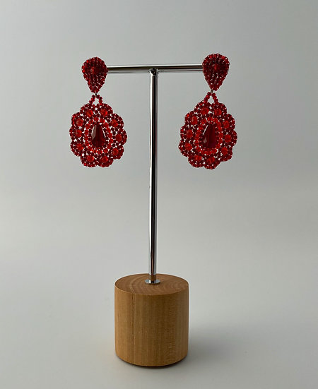 """Ohrringe """"Red Flower"""""""