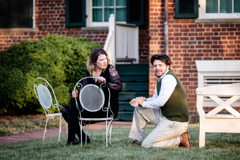 Rachel Blomquist as Masha, Vincent Sadler as Simon