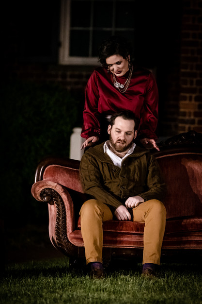 McKenzie Connell as Arkadina, Adam Whittaker Snavely as Trigorin