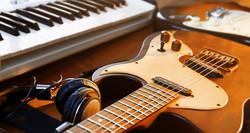 Keyboard and Guitar