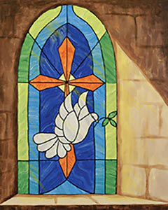 Easter Stained Glass Window Canvas Take & Make Art Kit