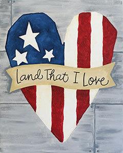 """Land that I Love"" Canvas Panel Saturday, June 23,  7pm"