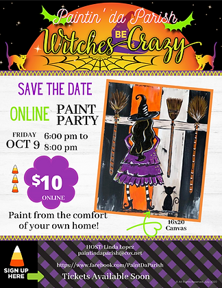 Witches Be Crazy Thursday, October 9, 6-8PM
