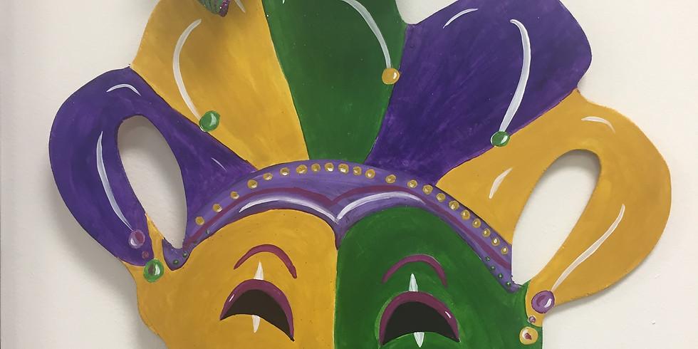 Mardi Gras Door Hanger Adult Paint-n-Sip  $45