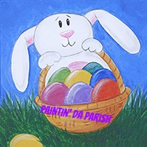 Kids' Easter Egg Hunt Canvas Take & Make Art Kit