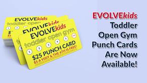 EVOLVEkids Toddler Open Gym Punch Cards