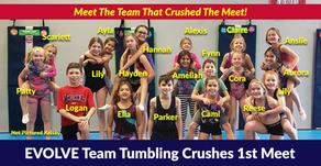 EVOLVE Team Tumbling Crushes 1st Meet
