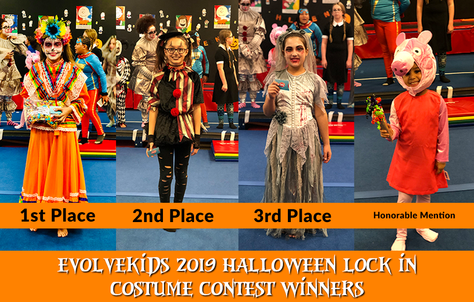 EVOLVEkids 2019 Halloween Lock In Costume Contest Winners