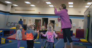 Bubble Time After Toddler Gymnastic Class At EVOLVEkids