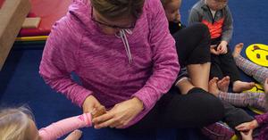 Stamp Time After Toddler Gymnastics Class At EVOLVEkids