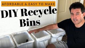 DIY Recycle Bins | 4 Bins for $20 | Sturdy PVC Construction
