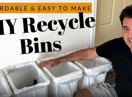 DIY Recycle Bins   4 Bins for $20   Sturdy PVC Construction