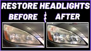 Easy 3 Minute Headlight Restoration | A Helpful Video Guide