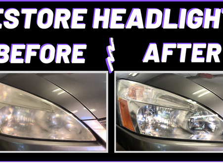 Easy 3 Minute Headlight Restoration | A Helpful Video Guide