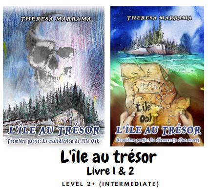 L'île au trésor (Book 1 & 2) - French Readers