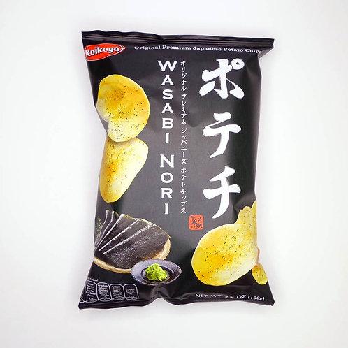 Potechi Wasabi&Nori chips Koike ya