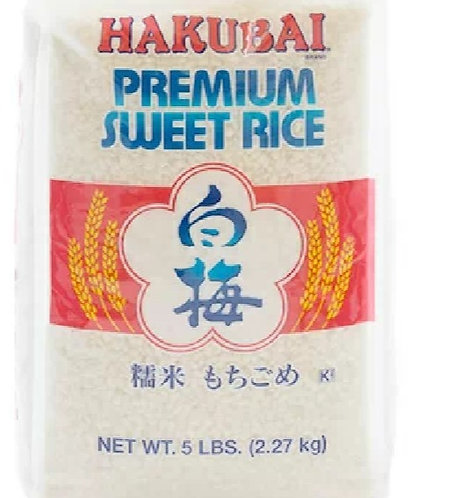 Hakubai Premium sweet (mochi) rice2.27kg