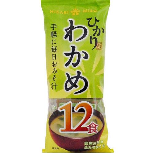 Instant Miso soup Wakame 12Pひかり味噌インスタント味噌汁わかめ