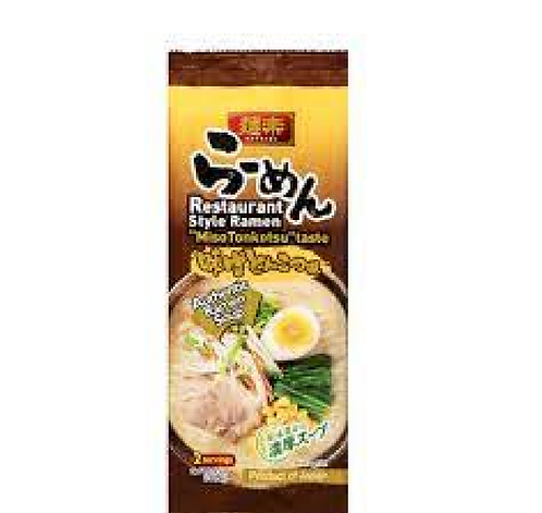 Miso ramen 2 pMenraku麺楽味噌とんこつラーメン2食入り
