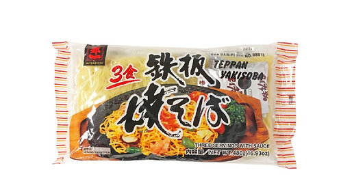 Teppan Yakisoba with sauce 3pcs  480g 都一鉄板焼きそば3パックソース付き