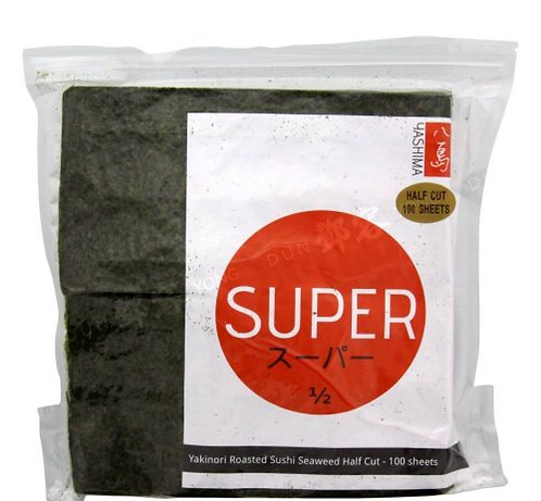 Yashima half cut Nori seaweed 50 sheets