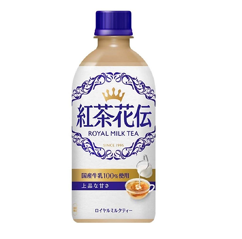 Kocha Kaden Royal milk tea 440ml Coca colaJapan紅茶花伝ロイヤルミルクティー