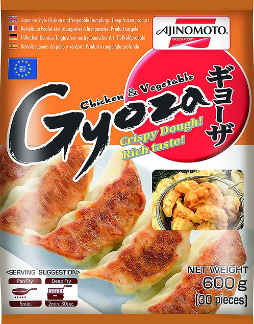 Chicken & Vegetable Gyoza  30 pieces 600g Ajinomoto
