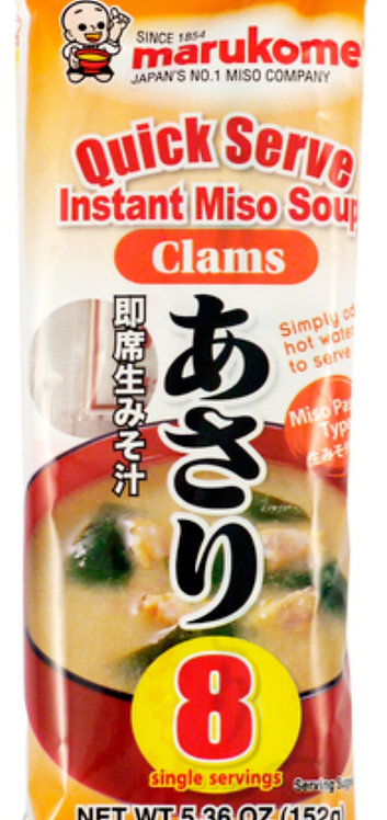 Instant Miso soup with clams (asari) 8 servings Marukome