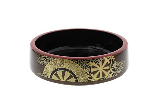 Sushi Oke plate Red & Black  31cmx6cm 寿司桶