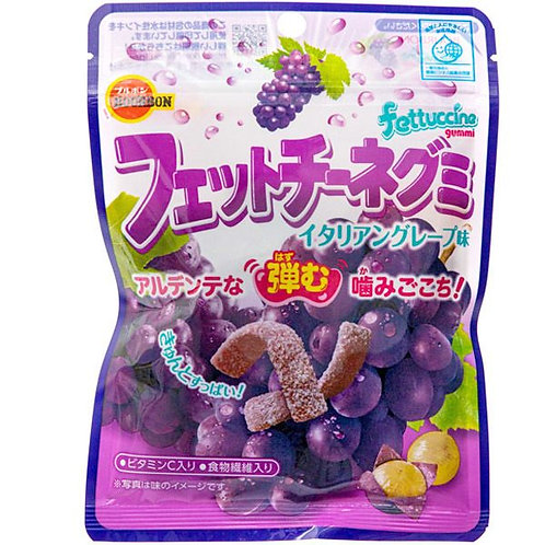 Fettucine gummy grape candy
