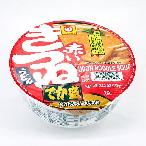 Maruchan Akai Kitsune Udon with Fried Tofu,Big bowl 113g
