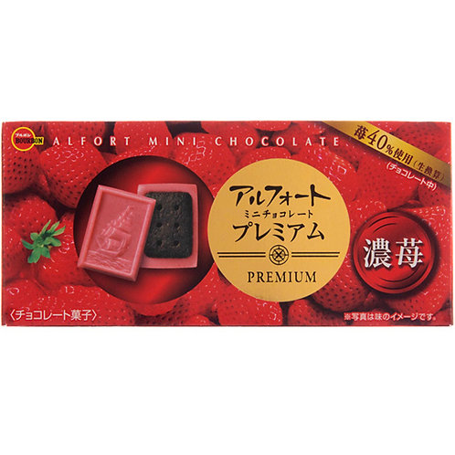 Alfort luxy strawberry chocolate biscuits 12pcs