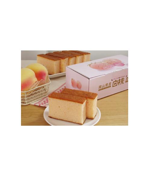 Hakuto (white peach) cake 1 p 白桃カステラ1個