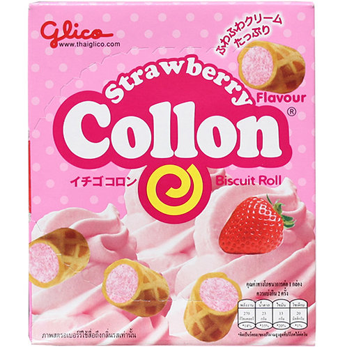 Strawberry collon biscuits