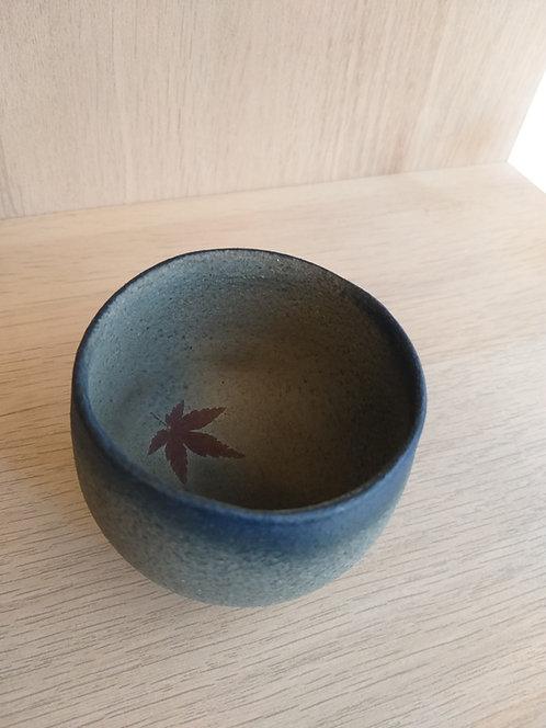 Sake cup (Choko) Mashiko style blue