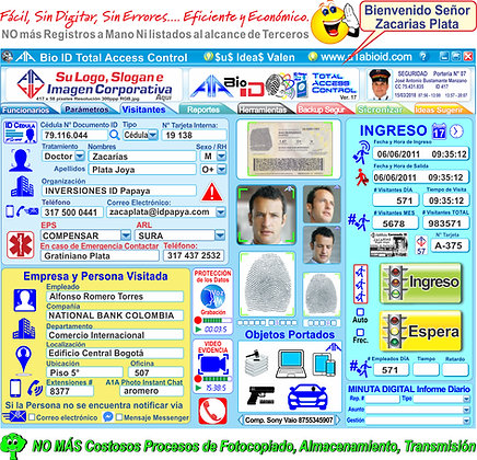 A1A 003 A1A Bio ID TAC Total Access Control Express
