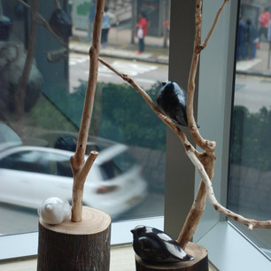 CHAN Kam-shing 陳錦成 Birds on branch 棲息 (parts)