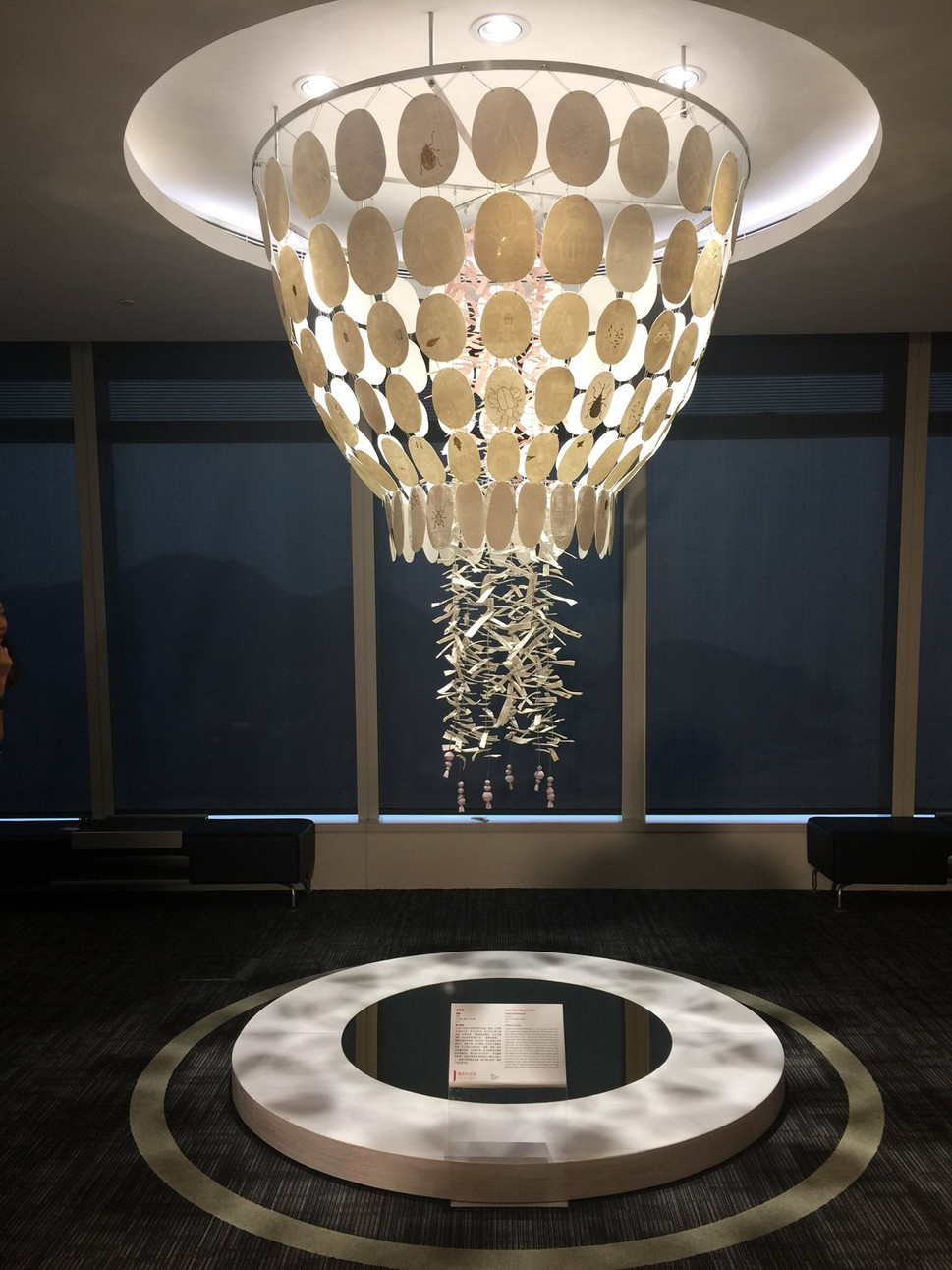 Chandelier in an exhibition