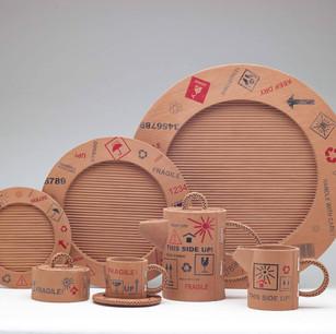 FUNG Siu-han, Anissa 馮笑嫺 Recycled corrugated paper box: Dinner Set