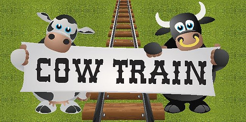 Cow Train Informational Sign