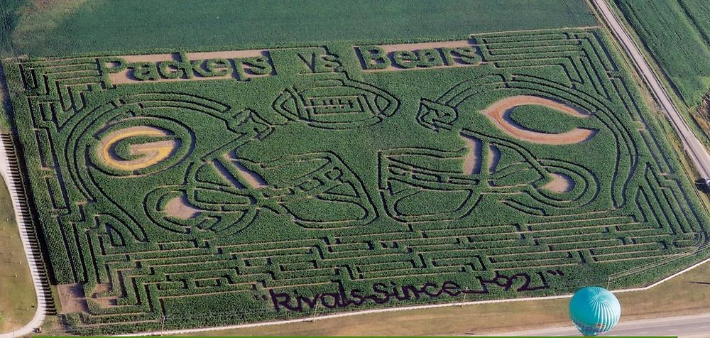 Packers vs Bears Corn Maze