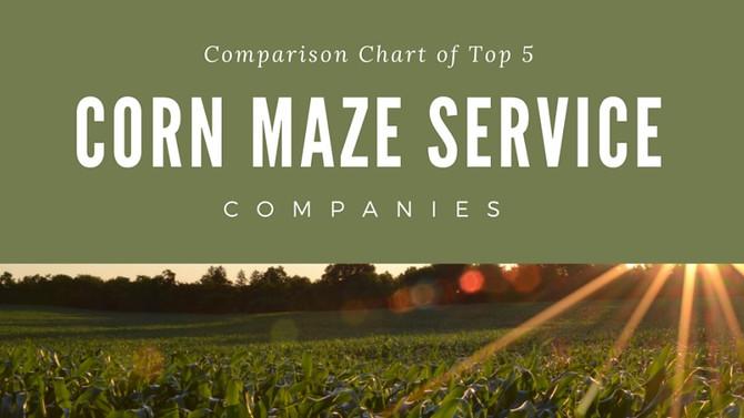 Comparison Chart of the Top 5 Corn Maze Service Companies