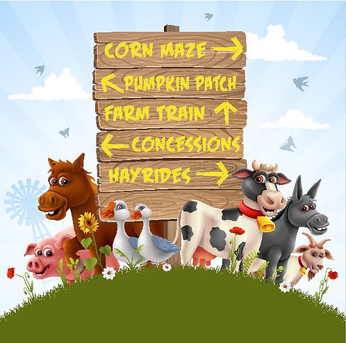 Farm Animal Directional Sign