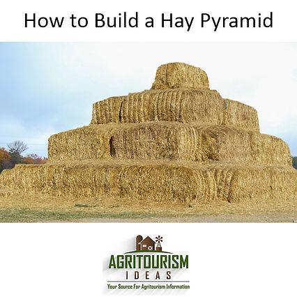 Giant Hay Bale Pyramid