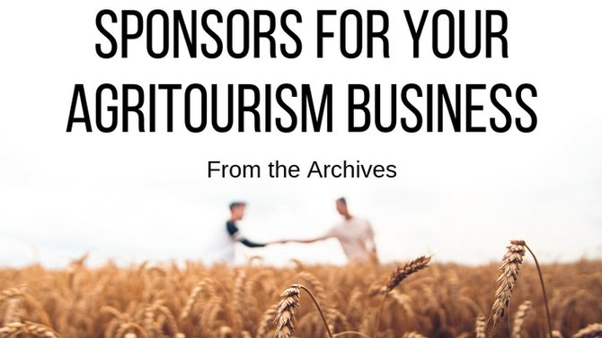 Sponsors for Your Agritourism Business