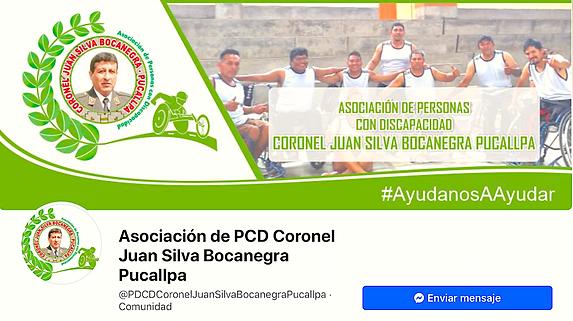 fanpage de la Asociación de Personas con Discapacidad coronel Juan Silva Bocanegra Pucallpa