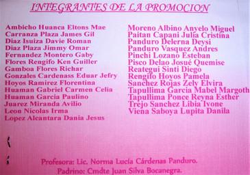 """Promocion 2010 """"Comandante PNP Juan Silva Bocanegra"""""""
