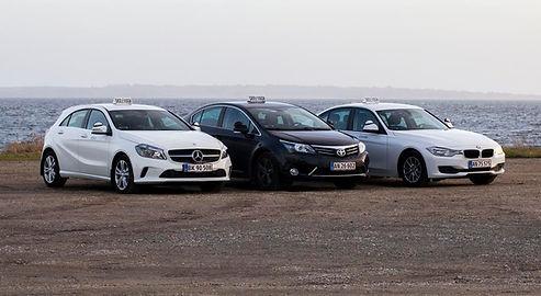 Vores biler til kørekort