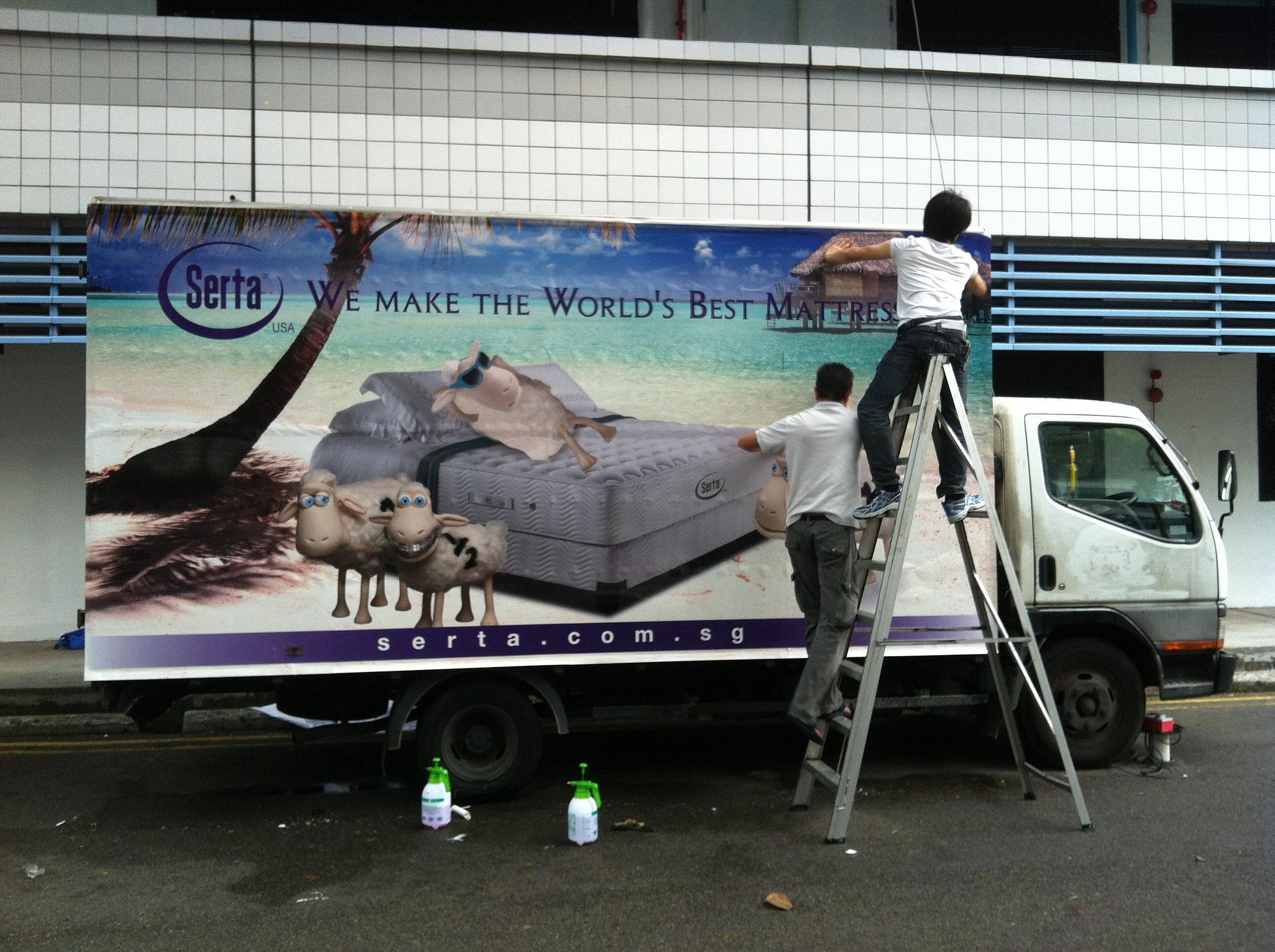 Car sticker wrap singapore - Zenith Visualad Productions Large Format Printing Singapore Truck Sticker Wrap