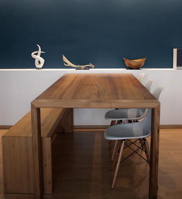Tisch in Ulme massiv hofschreinerei Heidelberg